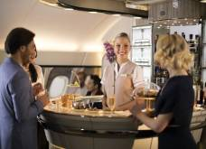 Emirates A380: Nový interiér salonku v Business a First Class