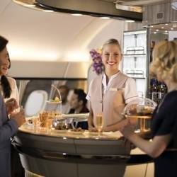 Emirates A380: Nový interéru pro salonek v Business a First Class